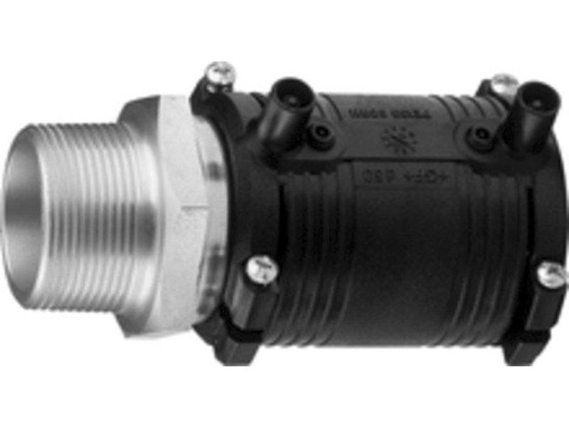 """GF ELGEF elektrolas overgangsmof 63 mm x 1½"""" staal bu.dr."""