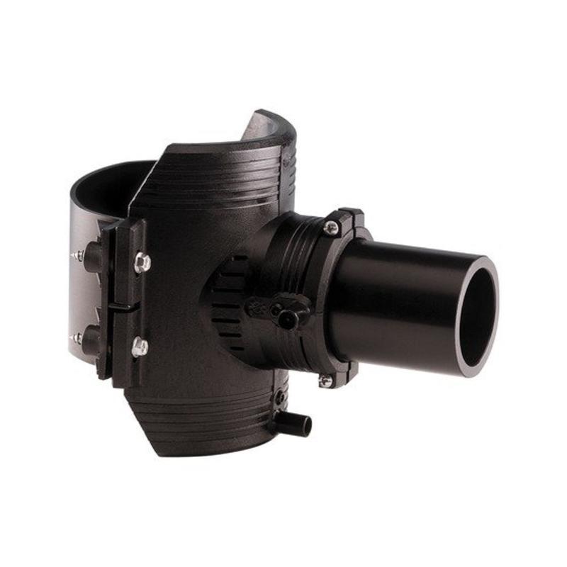 GF ELGEF elektrolas spie-eindzadel 90 mm / 63 mm   PE hulpstuk