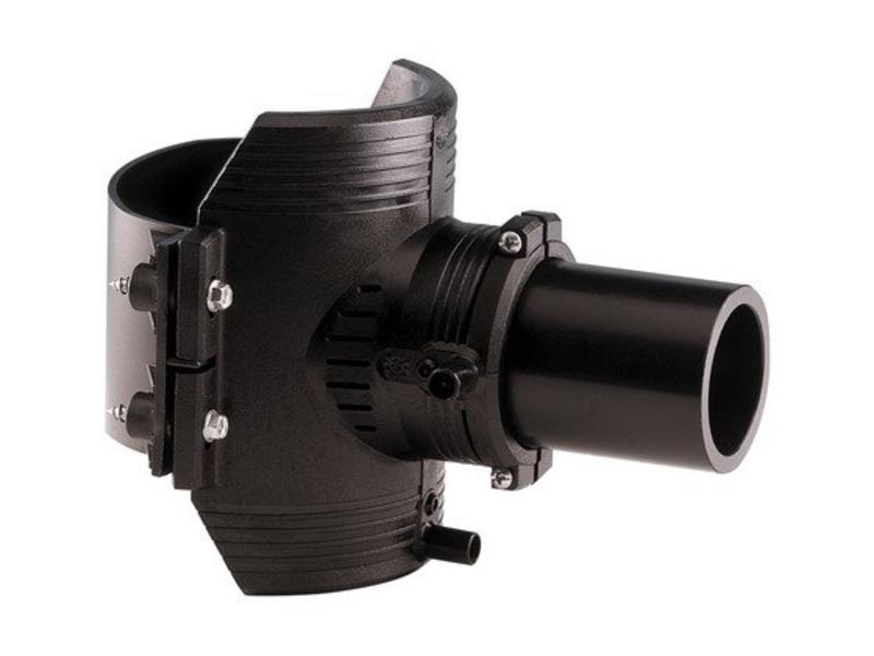 GF ELGEF elektrolas spie-eindzadel 400 mm / 63 mm   PE hulpstuk