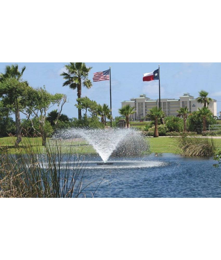 Otterbine Sunburst 300 drijvende fontein - beluchter 400V