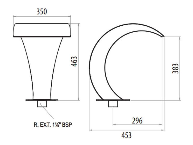 "AstralPool Waterornament waterval A-350 - 1½"" buitendraad"