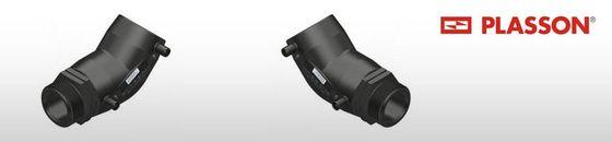 Plasson elektrolas overgangsknie 45° voor water bu.dr.