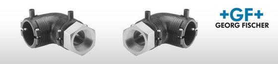 GF ELGEF elektrolas overgangsknie 90° PE / staal bu.dr.