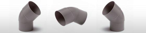 PVC HWA bocht mof / spie 45 graden verjongd spie-eind
