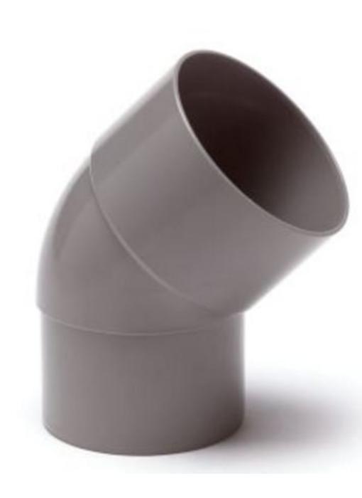 PVC HWA bocht mof / spie 45° - 70 mm verjongd spie