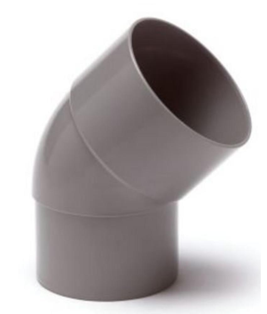 PVC HWA bocht mof / spie 45° - 80 mm verjongd spie
