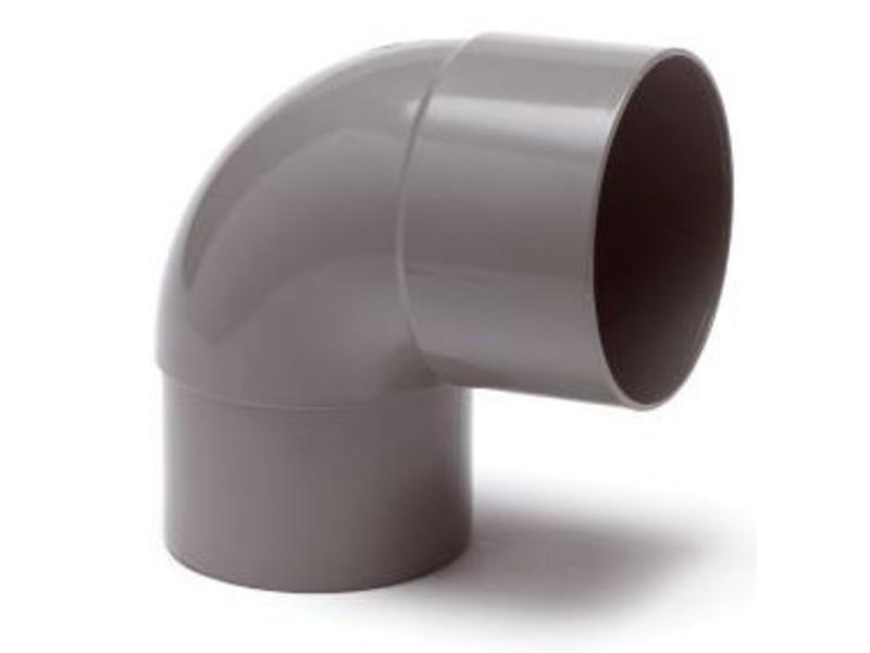 PVC HWA bocht mof / spie 87,5° - 80 mm verjongd spie