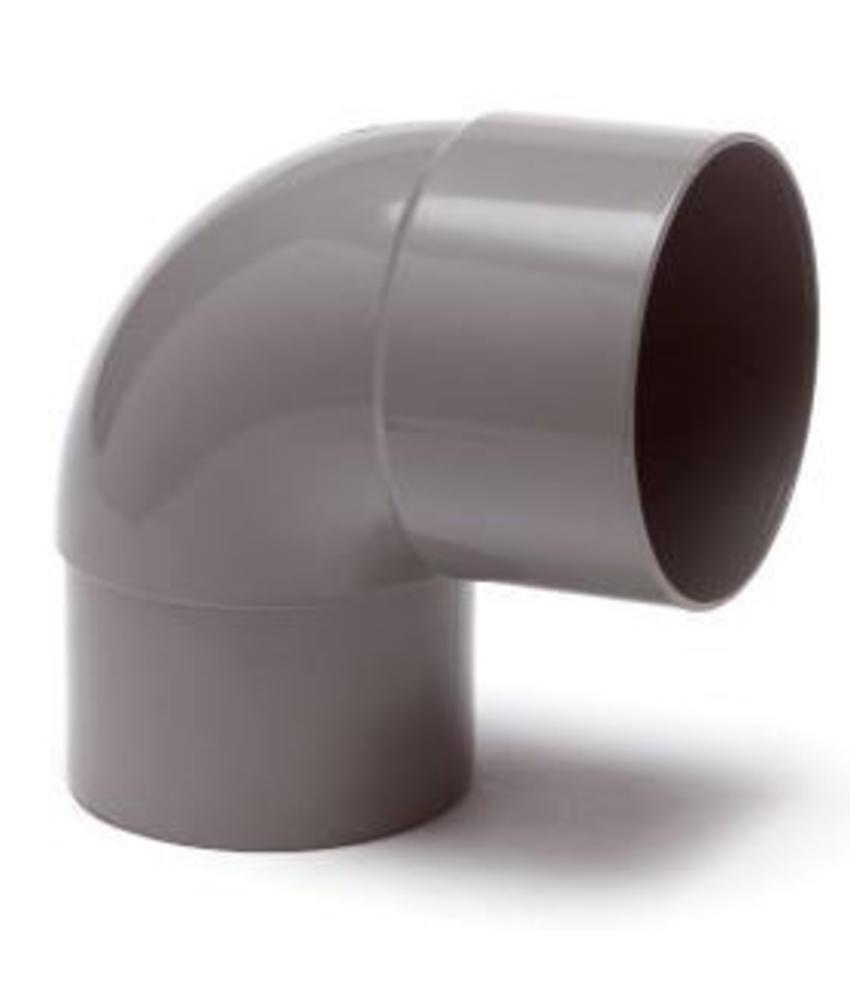 PVC HWA bocht mof / spie 87,5° - 100 mm verjongd spie