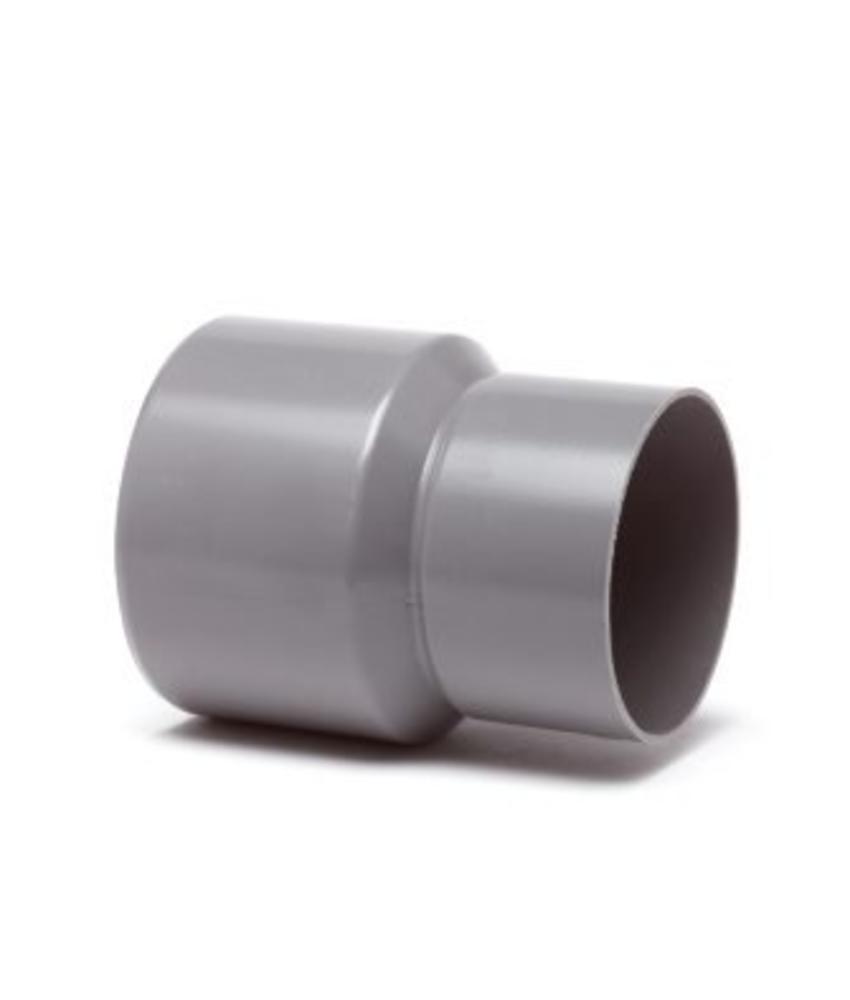 PVC HWA verloopstuk inwendig x uitwendig spie - 60 x 80 mm