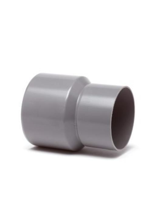 PVC HWA verloopstuk inwendig x uitwendig spie - 80 x 70 mm
