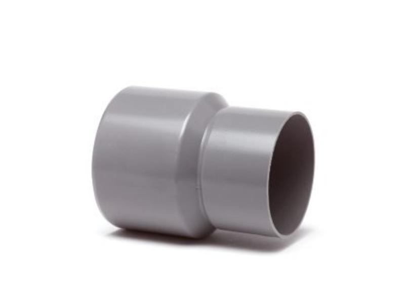 PVC HWA verloopstuk inwendig x uitwendig spie - 125 x 80 mm