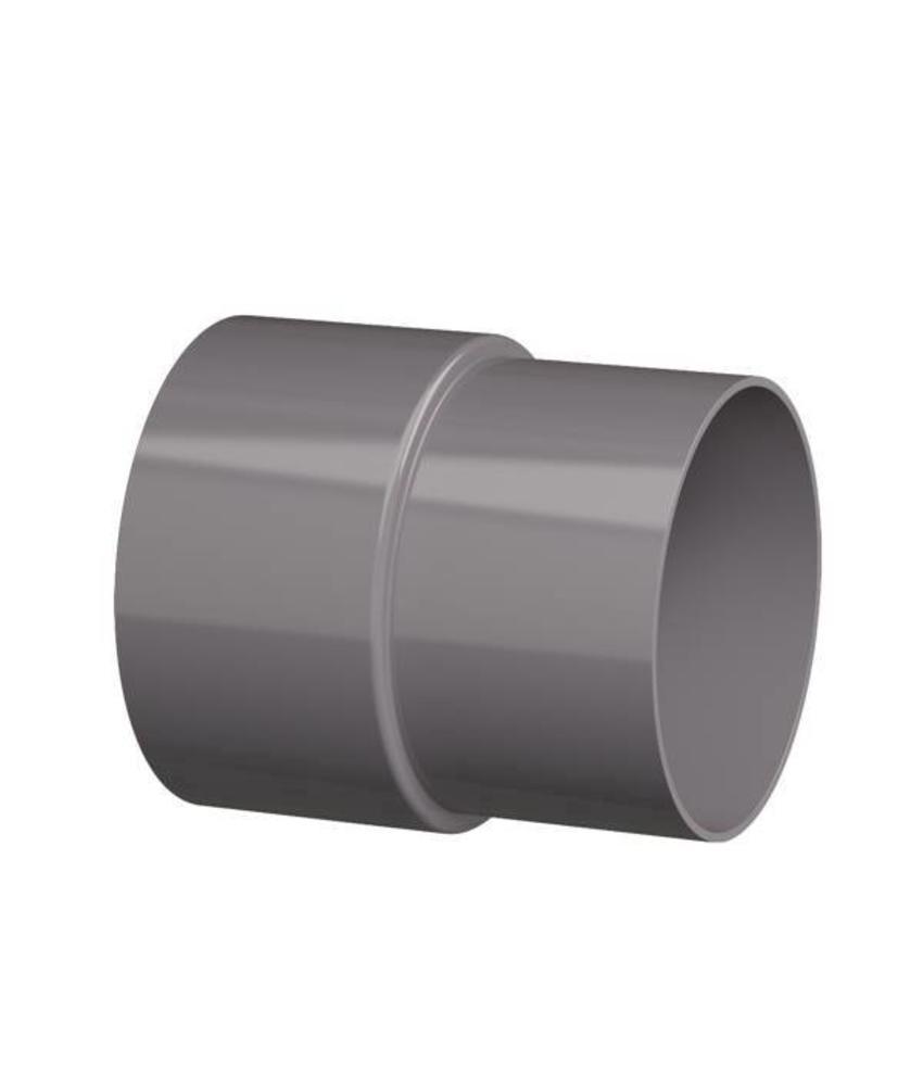 PVC HWA mof - 80 mm verjongd spie-eind