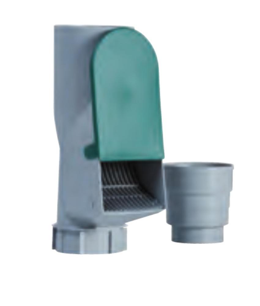 PVC HWA bladscheider met verloop - 80 x 100 mm