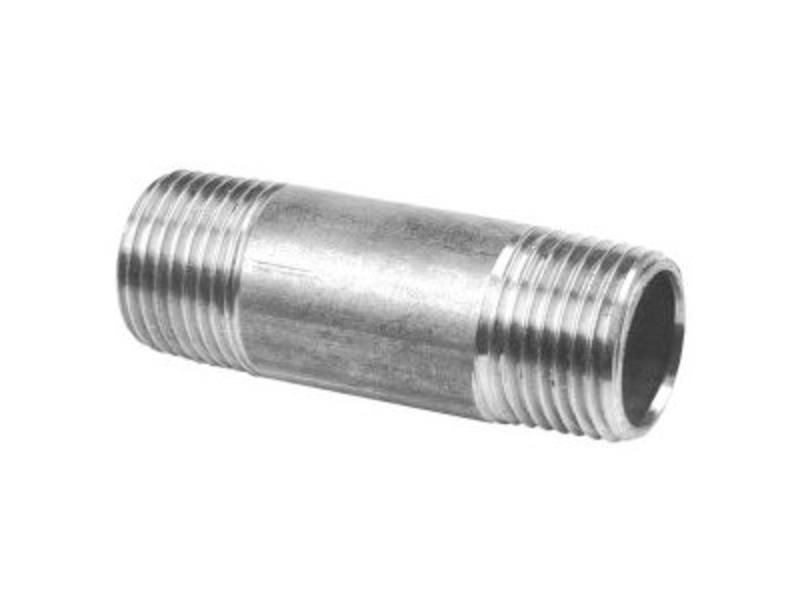 """RVS Pijpnippel ¾"""" x 60 mm"""