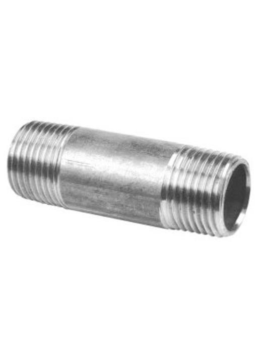 """RVS Pijpnippel ⅜"""" x 40 mm"""