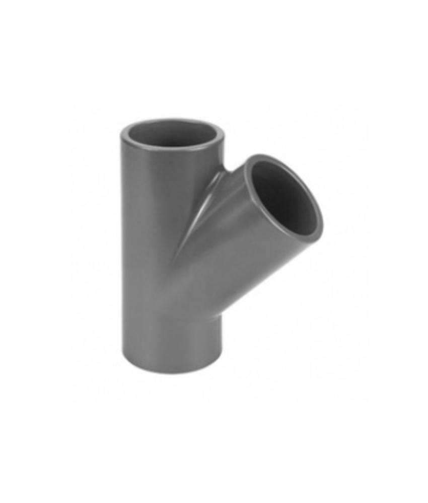 VDL PVC T-Stuk Ø 25 PN16, 45 graden