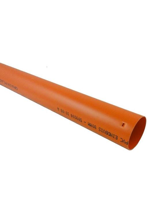 PVC Drainage eindbuis Ø 80mm