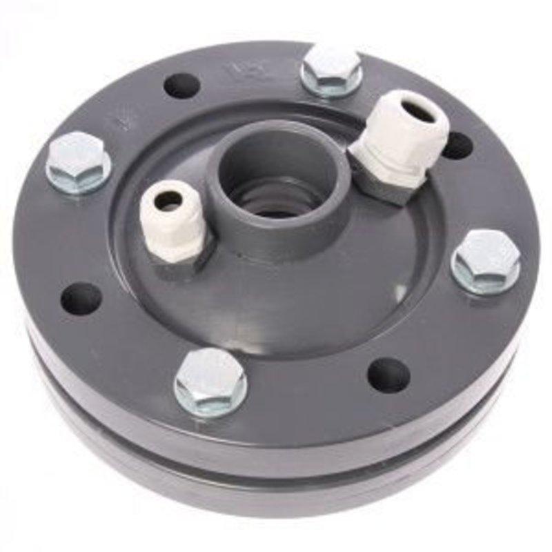 PVC bronkop / putdeksel 125mm (1½'' / 50 mm doorvoer)