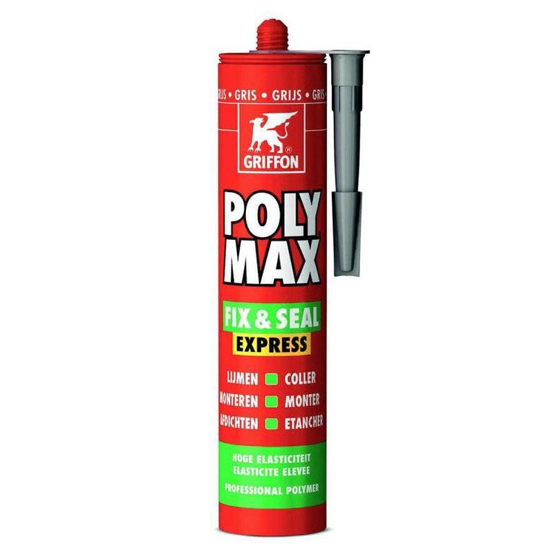 Griffon Poly Max Fix & Seal Express montagekit, grijs, 425 gr