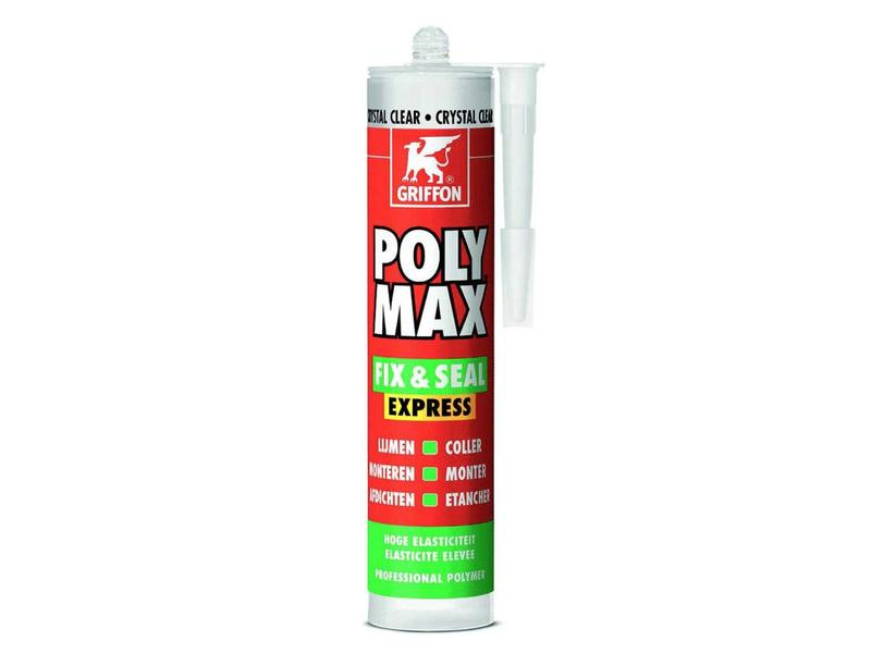Griffon Poly Max Fix & Seal Express montagekit, crystal clear crt, 300 gr