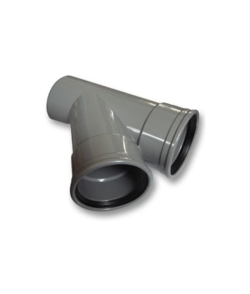 PVC T-stuk 45 graden SN4 125 x 110 mof/spie