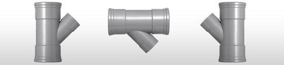 PVC T-stuk 45 graden SN4 mof/mof