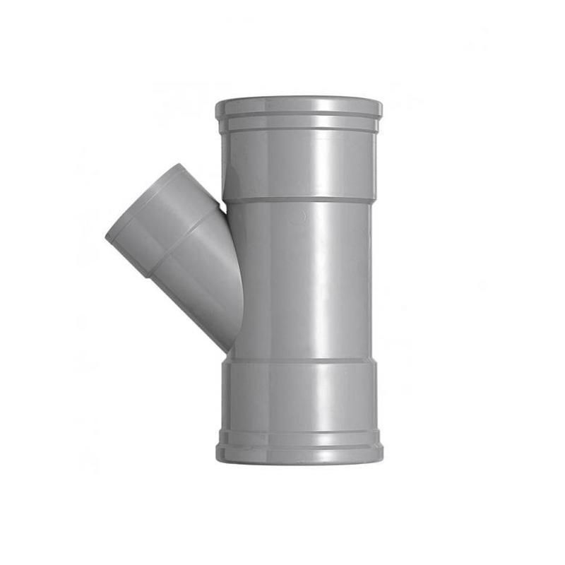 PVC T-stuk 45 graden SN4 110 x 75 mof/mof lijm