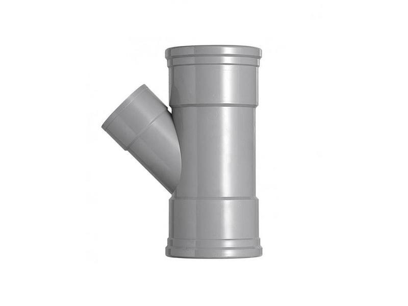 PVC T-stuk 45 graden SN4 160 x 110 mof/mof
