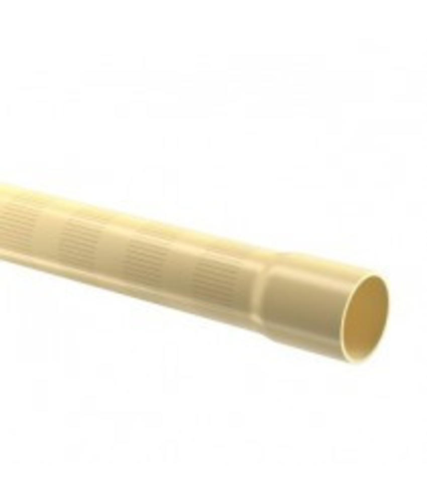 PVC filterbuis Ø125 mm 12,5 bar, 0,5 MM perforatie L = 5 meter