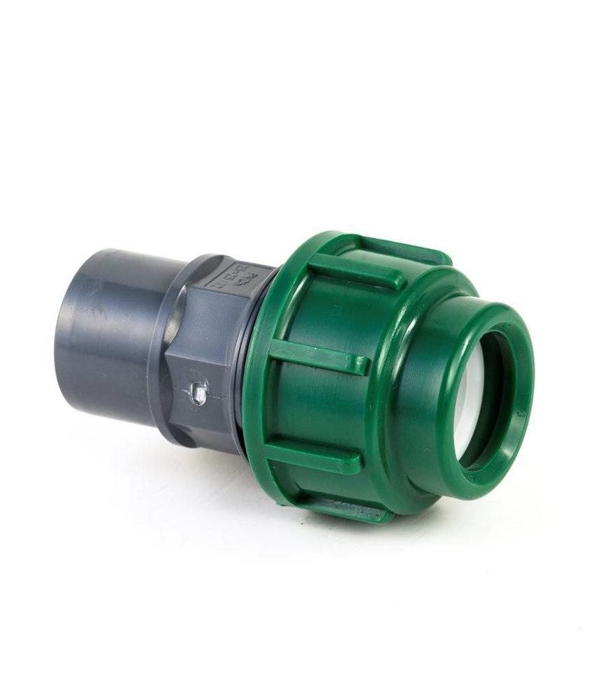 VDL Tyleen PVC koppeling, klem / lijm, 10 bar, 16 x 25/32 mm