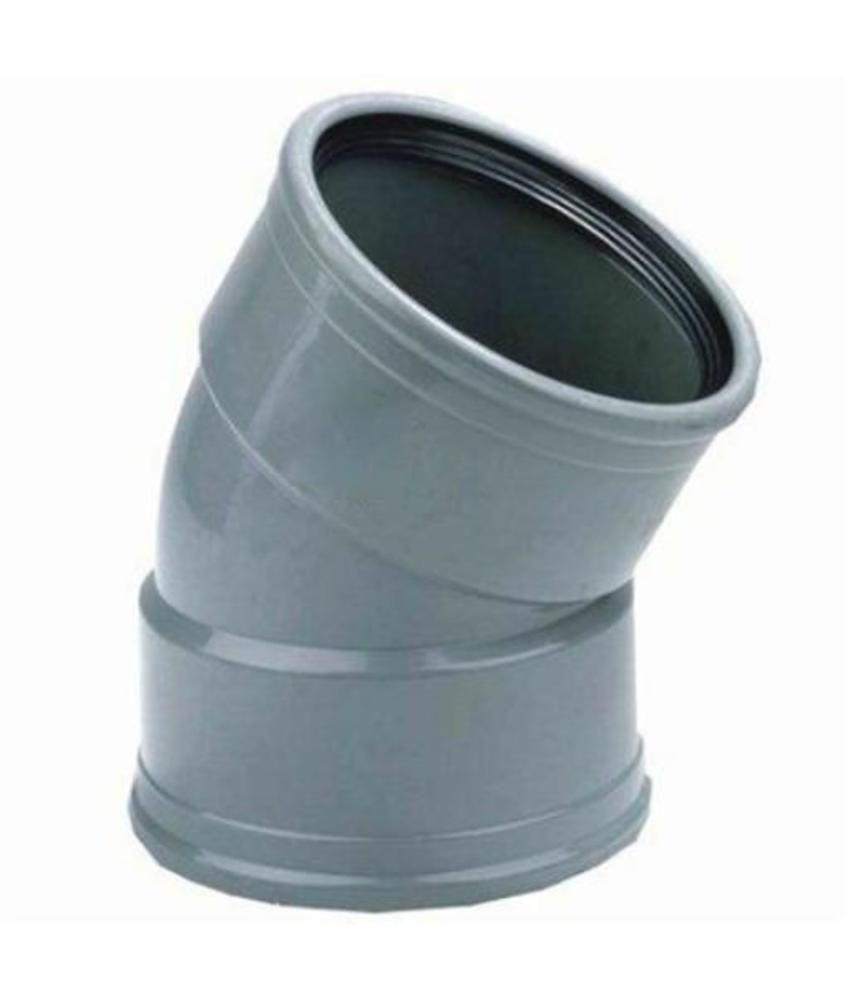 PVC Bocht 30gr, Ø 200mm SN4 mof/mof