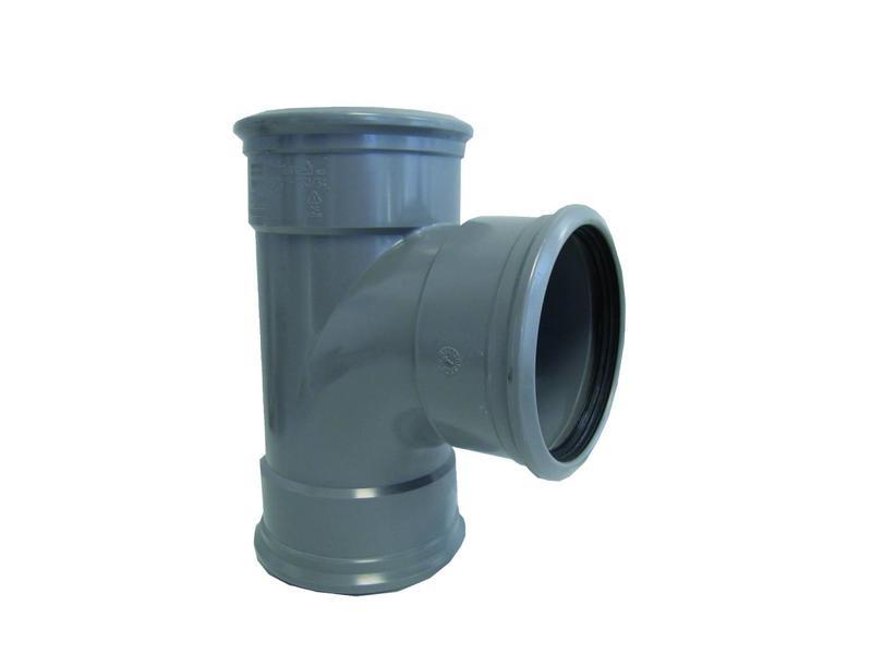 PVC  Verloop t-stuk 88gr, 200 x 160 mm