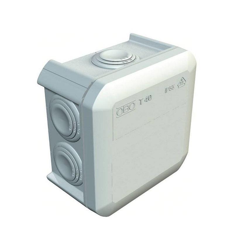 OBO kabeldoos T40 - 90 x 90 x 52 mm, IP 55, 500 V