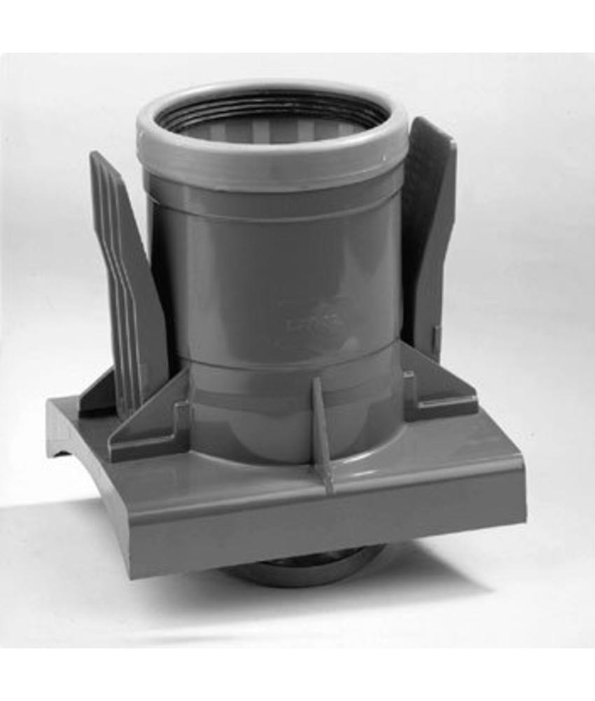 PVC knevelinlaat met zettingsinlaat SN8 KOMO 200 x 125 mm
