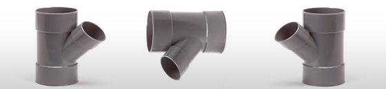 PVC T-stuk 45gr, mof/mof - lijmverbinding (32 t/m 160mm)