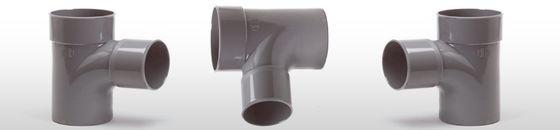 PVC T-stuk 88gr, mof/spie - lijmverbinding (32 t/m 125mm)