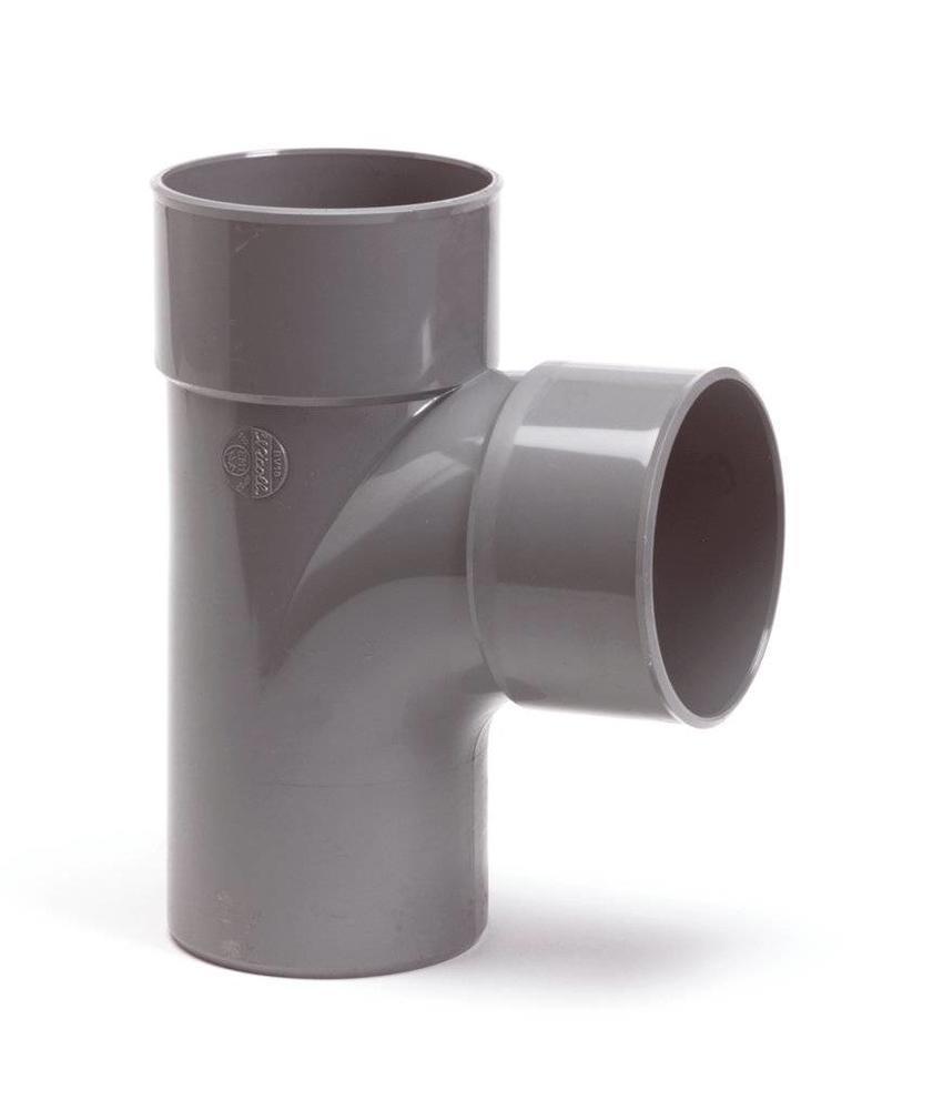 PVC T-stuk 88gr, Ø 110 x 110mm mof/spie - lijm