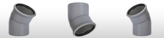 PVC bocht 30° SN8 mof/spie (Ø110 t/m Ø315 )