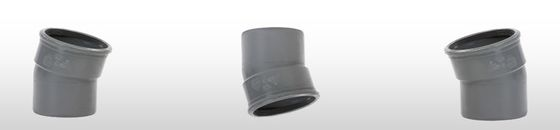 PVC bocht 15° SN8 mof/spie (Ø110 t/m Ø315 )
