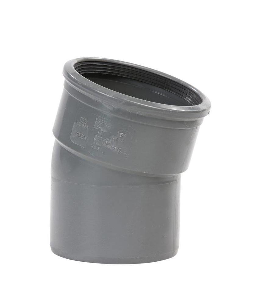 PVC bocht 15° mof/spie SN8 Ø125