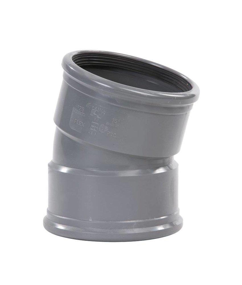 PVC bocht 15° mof/mof SN8 Ø125