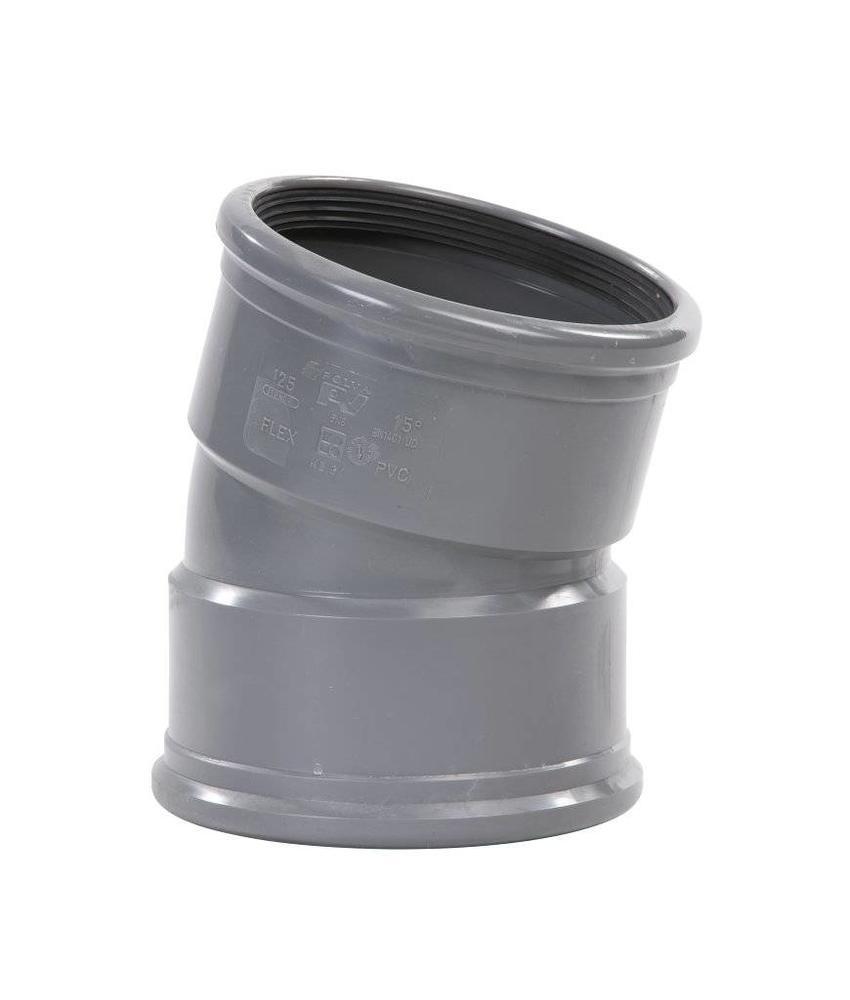 PVC bocht 15° mof/mof SN8 Ø250 kort model