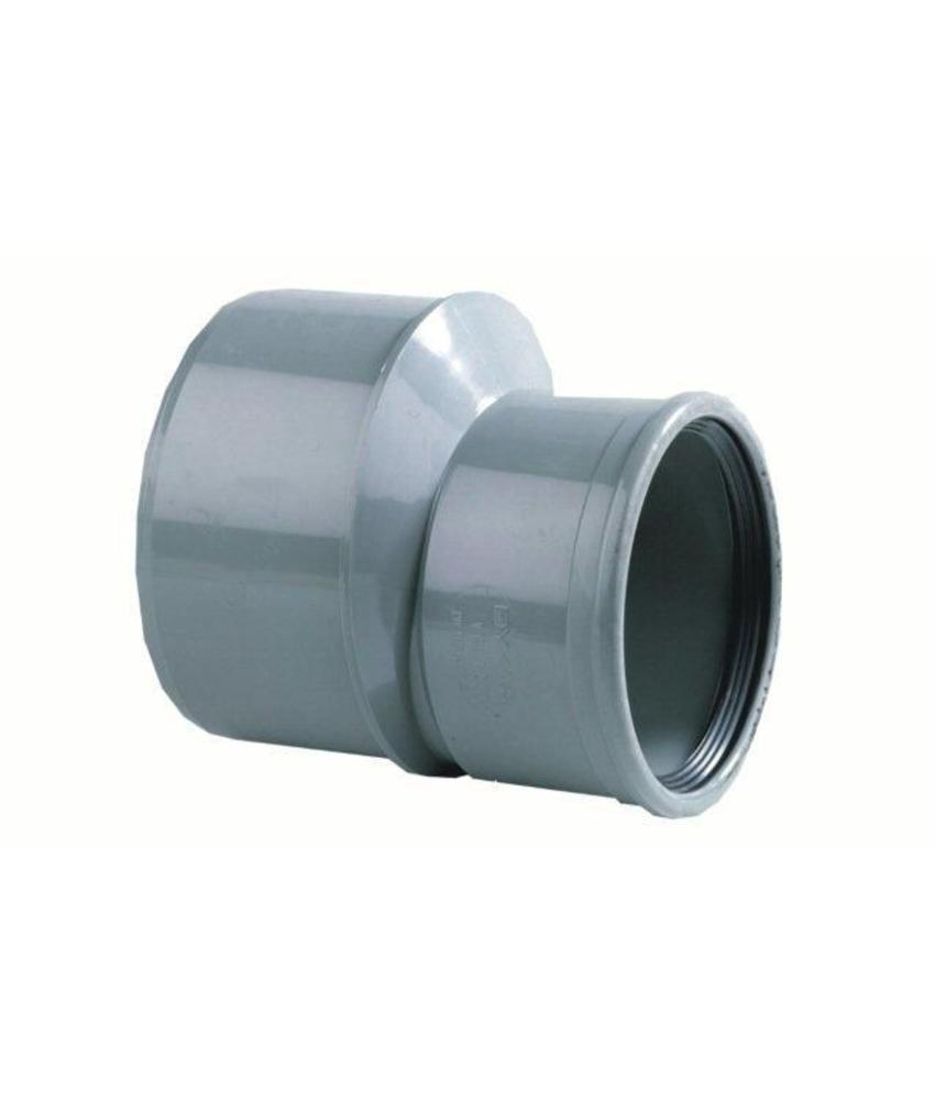 PVC inzetverloop SN4 lang model Ø125 x  Ø110