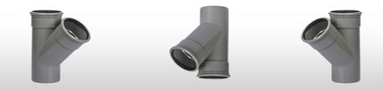 PVC T-stuk 45gr SN8, mof/spie (110 t'm 315mm)