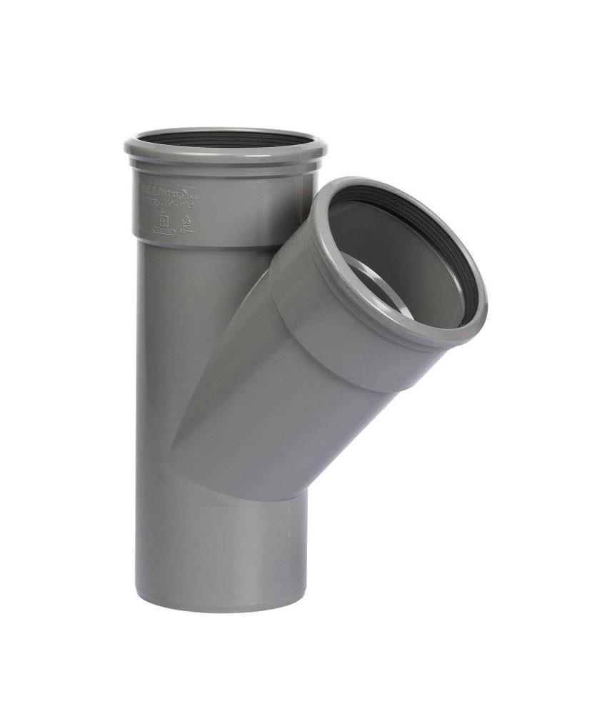 PVC T-stuk 45gr, Ø250 x 200mm SN8 mof/spie