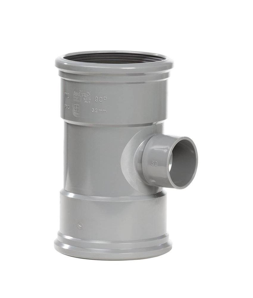 PVC Verloop t-stuk 88gr, 125x50 mm