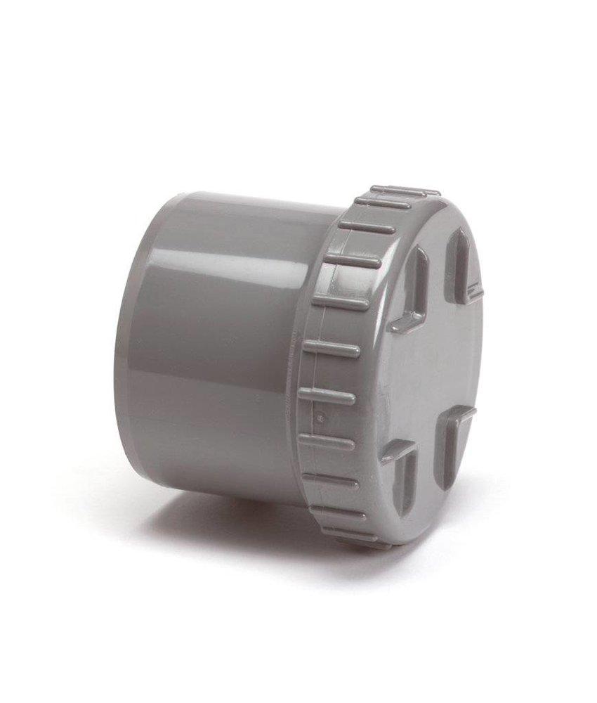 PVC eindstuk met schroefdeksel, 1x uitwendig lijm - 160mm