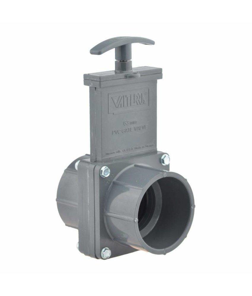 Valterra PVC schuifkraan 63 mm - 2 x lijmmof