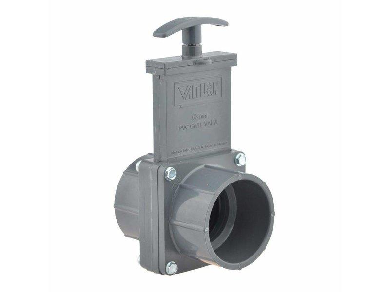 Valterra PVC schuifkraan 75 mm - 2 x lijmmof