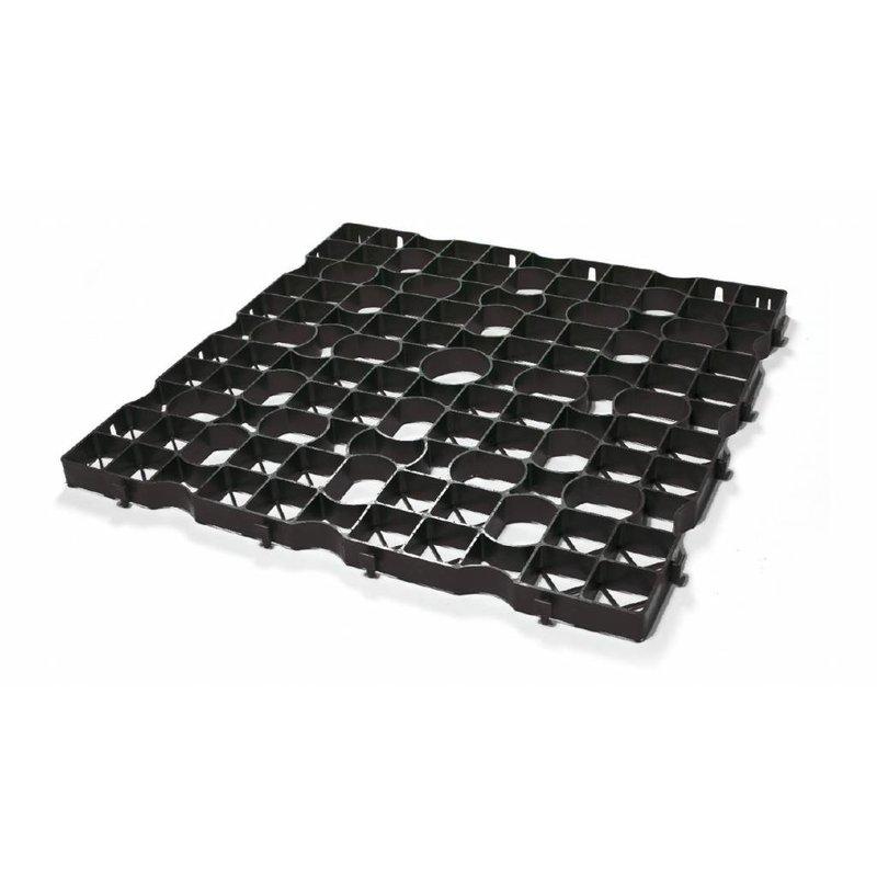 Grastegel zwart ECCOdal 80 x 80 x 4 cm | Grasplaat